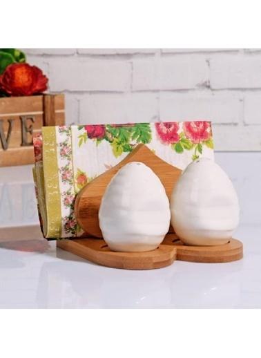 Kosova Bambu Porselen Peçetelik - Tuzluk Takımı Masa Tezgah Üstü Peçetelik Tuzluk Renkli